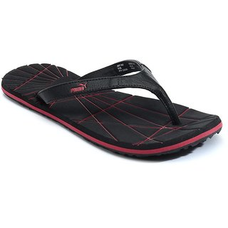 2259206b0627 Buy Puma Men s Black and Red Flip Flops Online   ₹1399 from ShopClues
