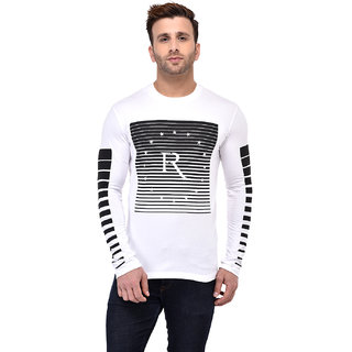 Gespo Round Neck Long Sleeves Printed T-shirt