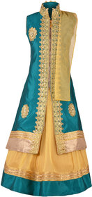 Kbkidswear Girl'S Embroidered Lehanga Choli And Dupatta Set