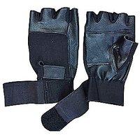 Luxmi Black Warm Gym Weight Lifting and Biker Gloves -1 Pair