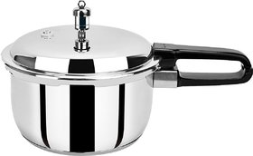 Pristine Induction Base Stainless Steel Pressure Cooker, 3Liters, 1Piece, Silver