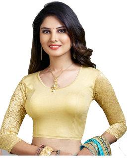Premium Gold 3/4 lace stretch blouse