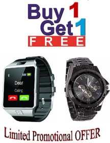 4G Phone campatible bluetooth Smart watch dz09 with free Rosra wrist- watch