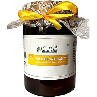 Farm Naturelle- Pure Raw Natural Unprocessed Wild Berry-Sidr Forest flower Honey - 815 Gms