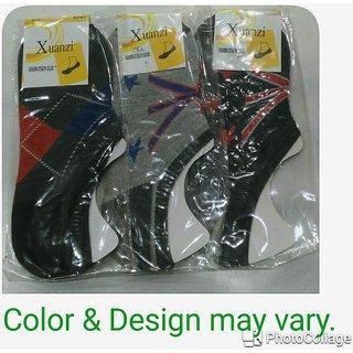 Unisex Trendy Multicolor Loafer/Hidden Socks - Pack of 3