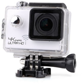 Magideal 4K Ultra HD 1080P 12MP WIFI Sports DV Action Waterproof Camera White