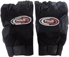 New Stylish Half Finger Black Glove