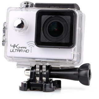 Magideal 4K Ultra HD 1080P 12MP WIFI Sports DV Action Waterproof Camera White Sports   Action Cameras