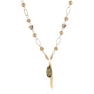 Fayon Daily Casual Work Gold Pearls Charm Necklace