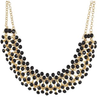 Fayon Weekend Party Elegant Black Beads Necklace