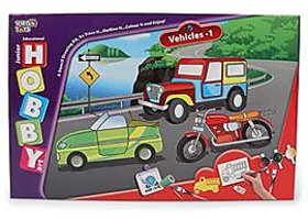 Hobby Art Jr Assorted Vehicles 1- Stencil Art  Craft kit