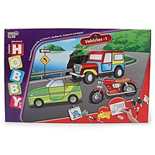Hobby Art Jr Assorted Vehicles 1- Stencil Art Craft kit