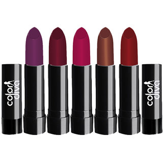 Color Diva Multicolor Crolla Lipstick 102A Pack of 5