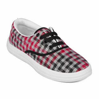 Asian VL-21 Red Casual Shoes