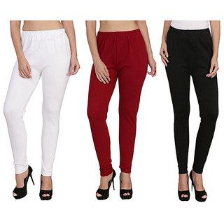 Meia - Black, Red n White Woollen Leggings (Pack of 3)