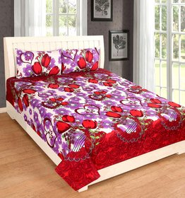 EXOTIC COTTON 1 DOUBLE BED SHEET WITH 2 PILLOW COVERS DBPC01