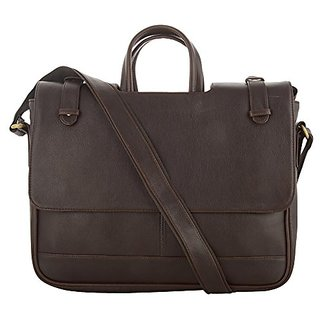 O.K. INTERNATIONAL 14inches Laptop, Synthetic leather 6.4 Liters Brown Laptop Bag (OKFMCTHNDZHBR)
