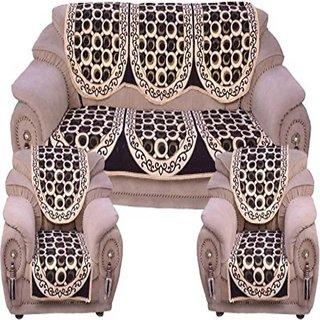 Manvi CreationAbstract Design Sofa cover