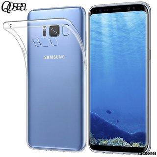 BS VORSON Original Clear TPU Transparent Soft Silicon Back Cover for Samsung Galaxy S8