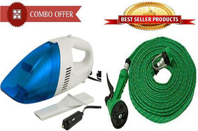 Special Combo Offer Car Vacuum Cleaner With 10 Meter Spray Gun - SPRGCV2