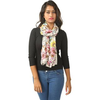 Selfi Wear Solid Poly Chiffon Women's Stole