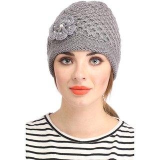 99c8a82baa5 Buy Zokar Grey Woolen Cap Women Online - Get 72% Off
