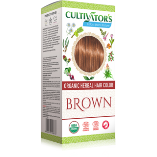 Cultivators Organic Herbal Hair Color - Brown