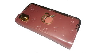 Ladies Hand Purse In Pink Color Zipper N Mobile Holder