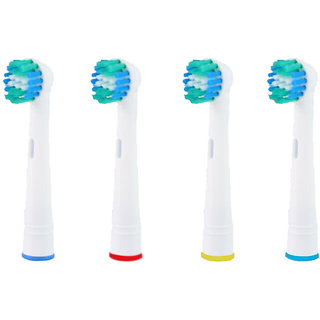 4 Pcs Replacement Electric Toothbrush Heads For Oral B Electric Toothbrush (Multicolor)