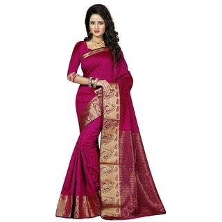 Subhash  Purple Plain Velvet Saree For Women