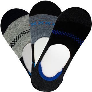 VC INTERNATIONAL Men's Multicolor Cotton Loafer Socks Pack of 3