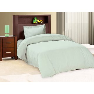 Pure Cotton Solid Color Single Bed Sheet With 1 Pillow Cover