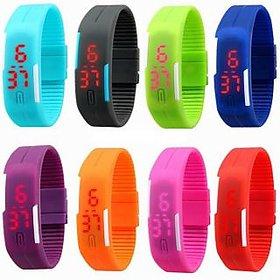 STAR LED Jelly Slim Trendy Combo Of 2 Piss Digital Watch
