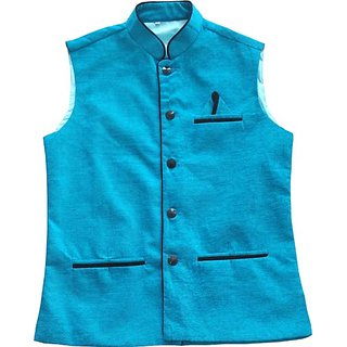 Modi jacket Nehru jacket waistcoat winter jacket coati ethic wear jacket Rama green color