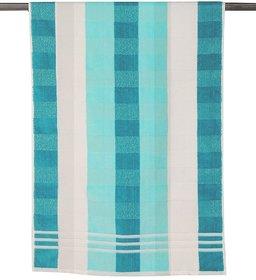 Blue & White Cotton Bath Towel