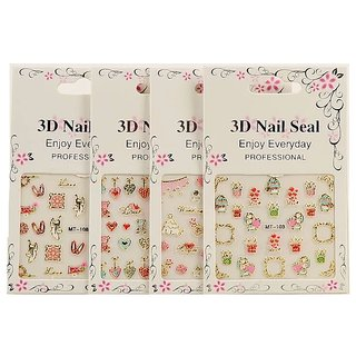 Royalkart Fengshangmei 50 Sheets 3D Nail Stickers (Multicolour)