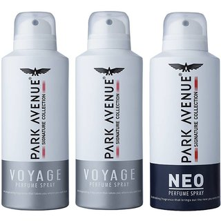 2 Voyage 1 Neo Singnature Collection Perfume Spray 130 ML Each (Pack Of 3)