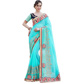 Kataria Fashion Blue Georgette Saree-5008