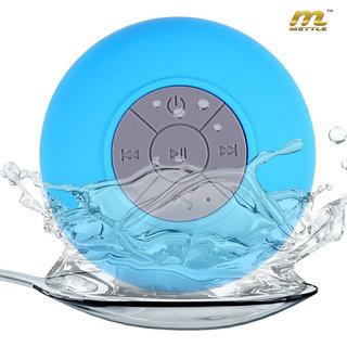 METTLE (TM.) MT-BTPS 1705 , Waterproof Bluetooth Shower Speaker With Mic Wireless Portable Stereo - Best for Bath, Pool.