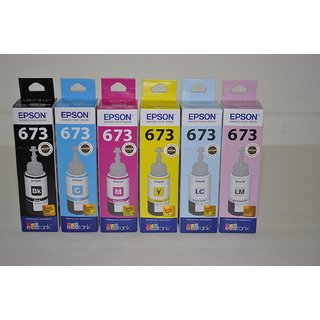 Epson T673  Black/Cyan/Yellow/Magenta/Light Cyan/Light Magenta  Ink Cartridge