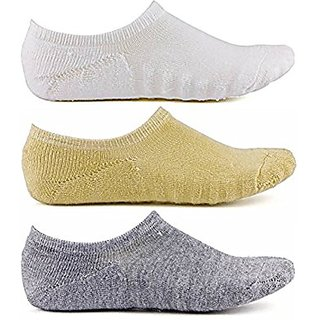 DDH Pack of 3 Cotton Loafer Socks for Men & Women