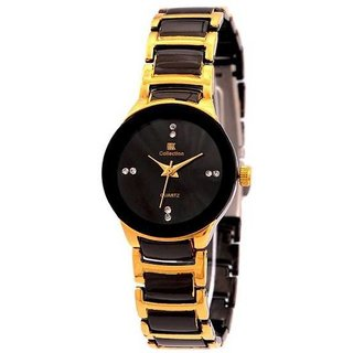 IIK collection black and gold watch for women