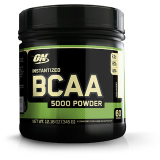 Optimum Nutrition (ON) Instantized BCAA 5000 mg Powder - 345 g (Unflavored)