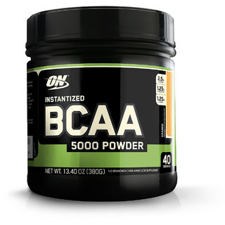 Optimum Nutrition (ON) Instantized BCAA 5000 mg Powder - 380 g (Orange)