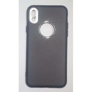 iPhone X BLACK Back Cover Silicon Case With Camera Protection
