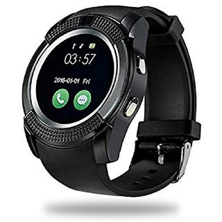 Smart V8 Bluetooth Smartwatch With Sim Tf Card Support With Apps like Facebook And Whats app or More - Assorted Color