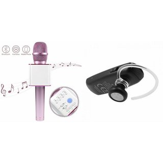 Roar Q7 Portable Wireless Karaoke Microphone Handheld Condenser Microphone Inbuilt Speaker Microphone and Bluetooth Headset (HM 1100 Bluetooth Headset, Wireless Music Bluetooth Headset With Mic)for SAMSUNG GALAXY NOTE II