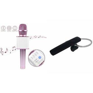 Roar Q7 Portable Wireless Karaoke Microphone Handheld Condenser Microphone Inbuilt Speaker Microphone and Bluetooth Headset (HM 1100 Bluetooth Headset, Wireless Music Bluetooth Headset With Mic)for ASUS ZENFONE MAX