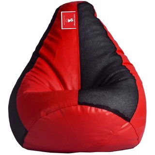 Comfy Bean Bag NET BLACK RED L SIZE Without Fillers - Cover Only