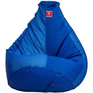 Comfy Bean Bag NET BLUE L SIZE Without Fillers - Cover Only